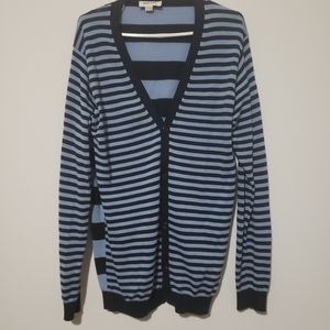 Diesel long cardigan 2 different patern of strpes